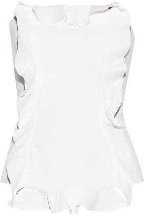 MARISSA WEBB Gloria ruffle-trimmed stretch-cady top