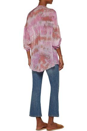 RAQUEL ALLEGRA Printed silk-voile blouse