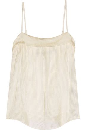RAQUEL ALLEGRA Flirty burnout silk camisole