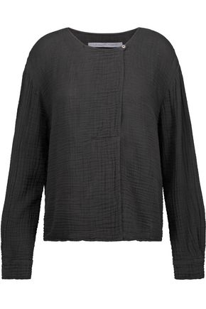 RAQUEL ALLEGRA Day crinkled cotton-gauze top