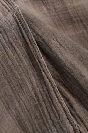 RAQUEL ALLEGRA Wrap-effect dégradé cotton-gauze top