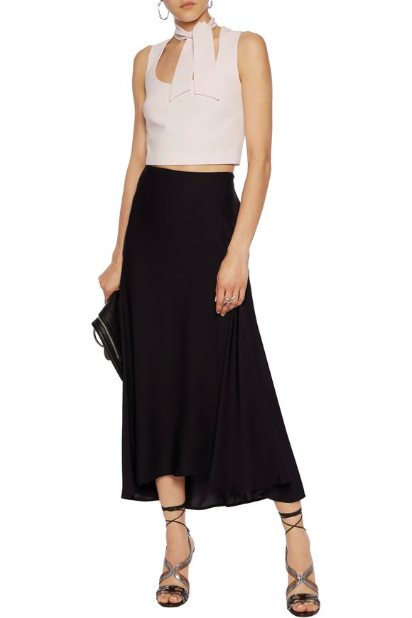Esme tie-front cropped crepe top | CINQ À SEPT | Sale up to 70% off | THE  OUTNET