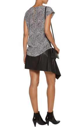 JOIE Rancher printed washed-silk top
