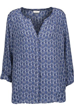 JOIE Audrick printed washed-silk top