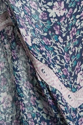 JOIE Forresto floral-print silk-georgette blouse