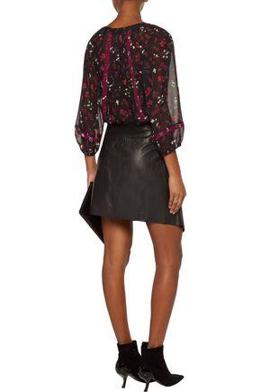 JOIE Floral-print silk-chiffon blouse