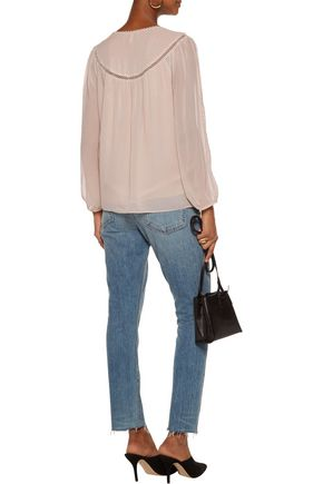 JOIE Delisa polka-dot silk crepe de chine blouse