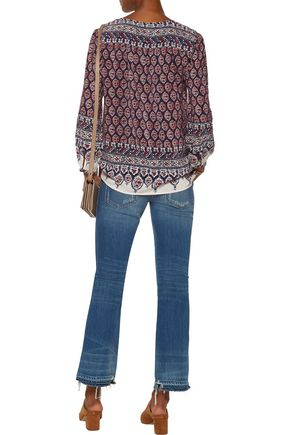 JOIE Kirsi printed washed-silk top