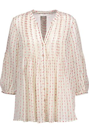 JOIE Martine printed silk crepe de chine blouse