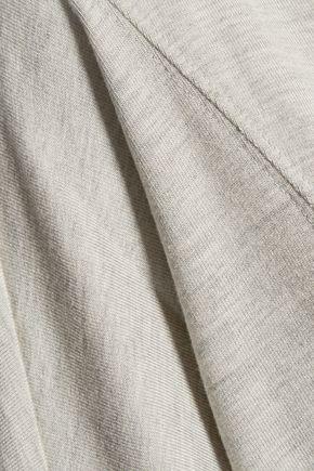 HAUTE HIPPIE The Traveler asymmetric marled stretch-modal sweater