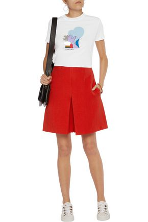 CARVEN Embroidered printed cotton T-shirt