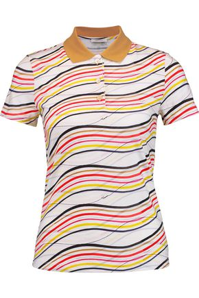 CARVEN Printed cotton-jersey polo shirt