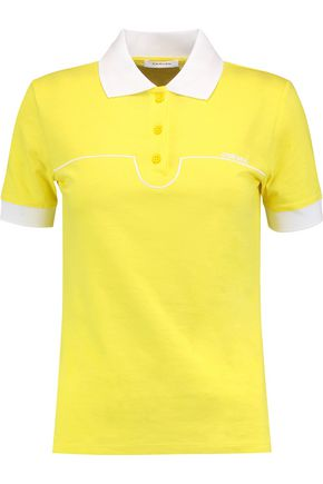 CARVEN Embroidered cotton-jersey polo shirt