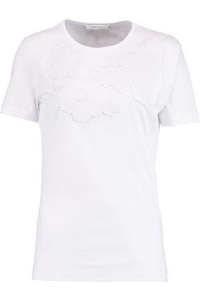 CARVEN Appliquéd cotton-jersey T-shirt