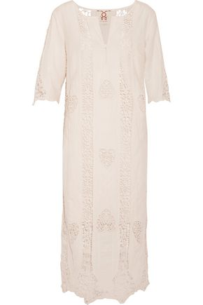 FIGUE Corrine crochet-paneled cotton-gauze kaftan