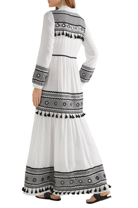 Embellished embroidered cotton-gauze maxi dress | DODO BAR OR | Sale up to  70% off | THE OUTNET