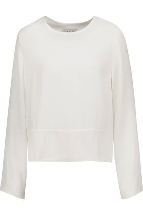 SANDRO Paris Moe cutout twill top