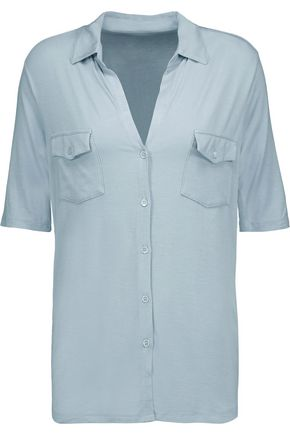 MAJESTIC Washed stretch-jersey shirt