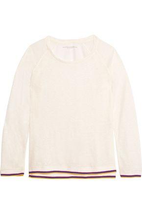 MAJESTIC FILATURES Cotton-trimmed slub linen top