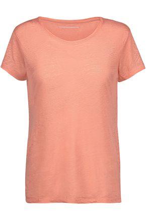 MAJESTIC Slub linen T-shirt