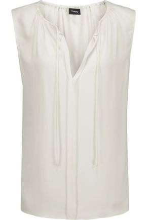 THEORY Alamay silk crepe de chine top