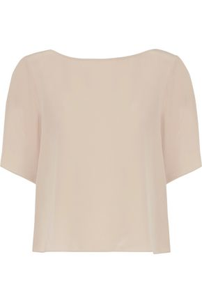 THEORY Idanella tie-back silk crepe de chine top
