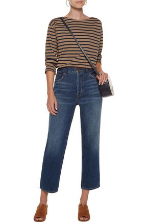 M.I.H JEANS Simple Mariniere striped cotton-jersey top
