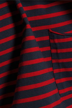 M.I.H JEANS Striped cotton-ponte top