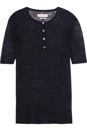 Isabel Marant Woman Gathered Printed Silk-satin Top Black Size 34 Isabel Marant Cheap Newest wwZjUx4cjk
