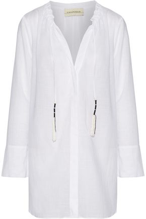 BY MALENE BIRGER Tagodo gathered cotton-gauze tunic