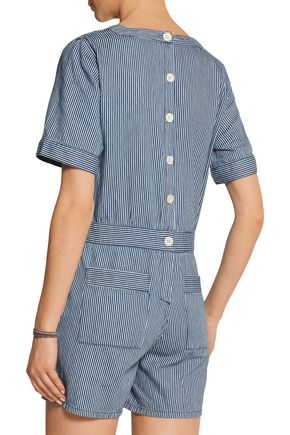 M.I.H JEANS Biarritz striped cotton playsuit