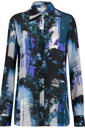 MAISON MARGIELA Printed silk-chiffon shirt