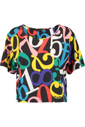 LOVE MOSCHINO Printed cotton top