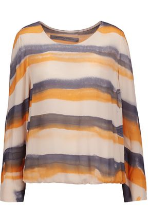 RAQUEL ALLEGRA Printed silk crepe de chine top