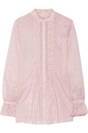 MICHAEL KORS COLLECTION Floral-print cotton blouse