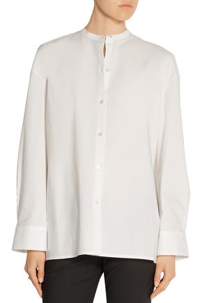 THE ROW Silu cotton-poplin shirt