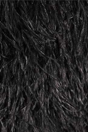 BALMAIN Feather and silk top