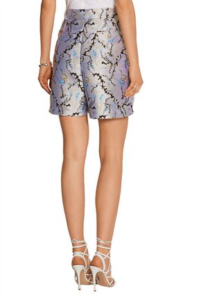 MARY KATRANTZOU High-rise jacquard shorts