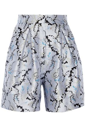 MARY KATRANTZOU High-rise jacquard shorts