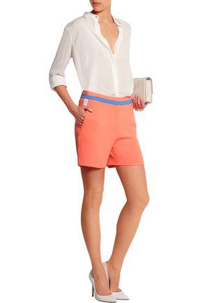 ROKSANDA Neon wool-crepe shorts