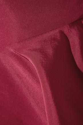 OSCAR DE LA RENTA Ruffled silk-taffeta peplum top