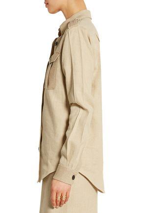 VICTORIA BECKHAM Jute and silk-blend canvas shirt