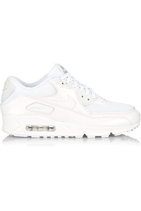 NIKE Air Max 90 Premium leather and mesh sneakers