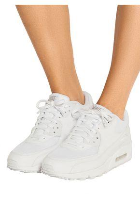 NIKE Air Max 90 Premium leather and mesh sneakers