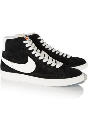 NIKE Blazer perforated suede high-top sneakers