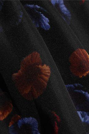 ZEUS + DIONE Erifilli cutout floral-print silk top