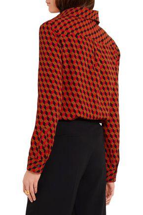 MICHAEL KORS COLLECTION Printed silk-crepe shirt
