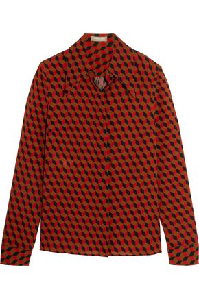 MICHAEL KORS COLLECTION Printed silk-crepe shirt