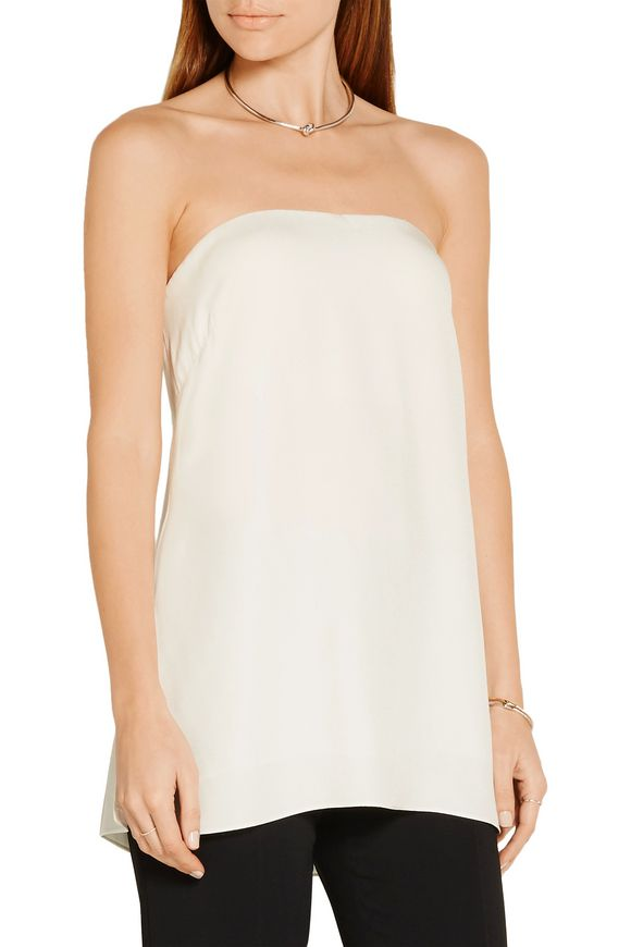 Strapless crepe bustier top | ADAM LIPPES | Sale up to 70% off | THE OUTNET