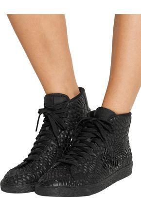 NIKE Blazer Mid Diamondback Kurim® leather high-top sneakers